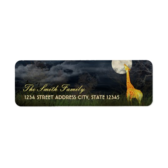 Giraffe and Moon | Custom Return Address Labels
