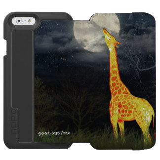 Giraffe and Moon Incipio Watson iPhone Wallet Case Incipio Watson™ iPhone 6 Wallet Case
