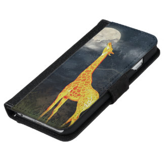 Giraffe and Moon | iPhone 6 Galaxy S6 Wallet Cases