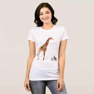 Giraffe and Rabbit T-Shirt