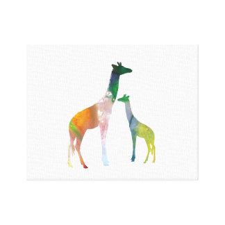 Giraffe Art Canvas Print