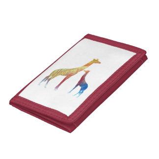 Giraffe Art Tri-fold Wallet
