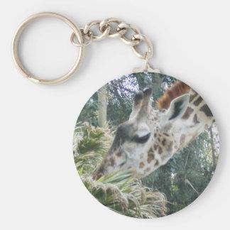Giraffe at lunch key ring