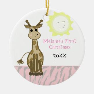 Giraffe Baby First Christmas Christmas Tree Ornament
