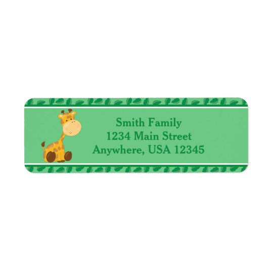 Giraffe | Baby Safari Animals | Personalised Return Address Label