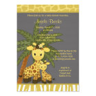 Giraffe Baby Shower Invitation Mummy Grey Yellow