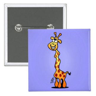 Giraffe 15 Cm Square Badge