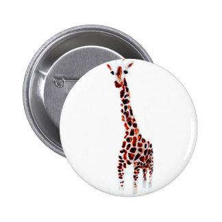 Giraffe Badge Wildlife Art