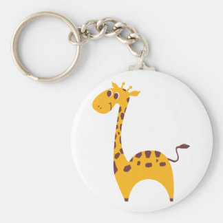 Giraffe Basic Round Button Key Ring