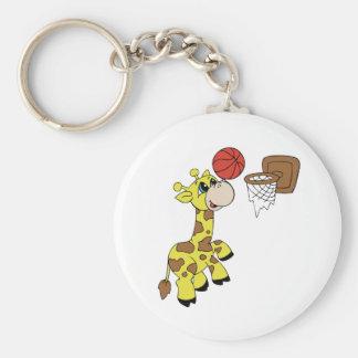 Giraffe Basketball Keychain