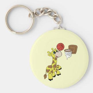 Giraffe Basketball T-shirts and Gifts Key Chains