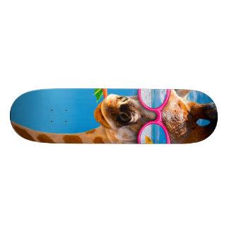 Giraffe beach - funny giraffe 18.1 cm old school skateboard deck