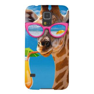 Giraffe beach - funny giraffe cases for galaxy s5