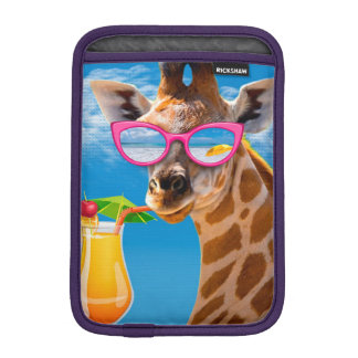 Giraffe beach - funny giraffe iPad mini sleeve