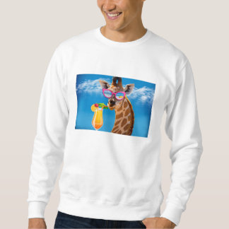 Giraffe beach - funny giraffe sweatshirt