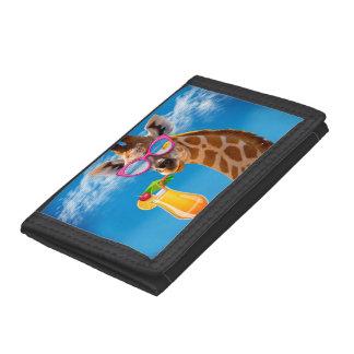 Giraffe beach - funny giraffe trifold wallet