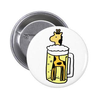 Giraffe beer 6 cm round badge