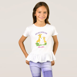 Giraffe Best Big Sister Ever Sisters Personalized T-Shirt
