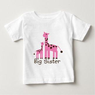 Giraffe Big Sister T Shirt