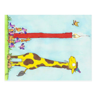GIRAFFE BIRTHDAY postcard by Nicole Janes