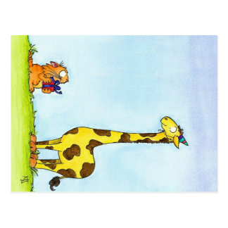 GIRAFFE BIRTHDAY postcard by Nicole Janes