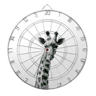 Giraffe Black and White Dartboard