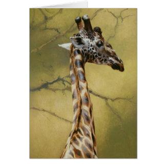 Giraffe Blank Card by Andrew Denman