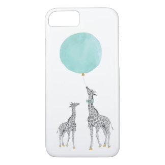 Giraffe & Blue Balloon iPhone 7 Case