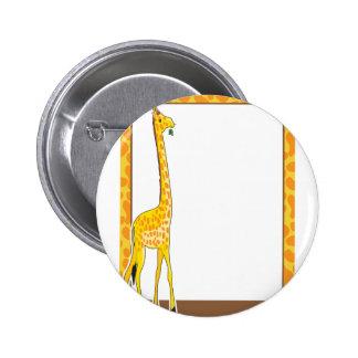 Giraffe Border 6 Cm Round Badge