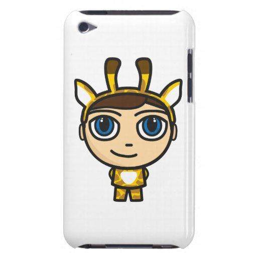 Giraffe Boy Cartoon Character iPod Touch Case