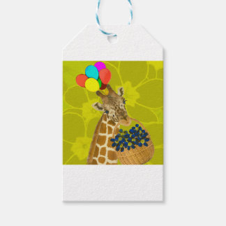 Giraffe brings congratulations. gift tags