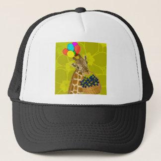 Giraffe brings congratulations. trucker hat
