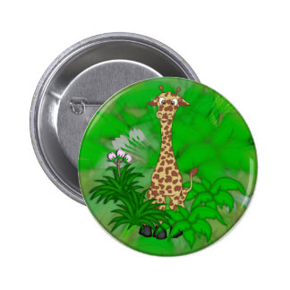 Giraffe-brown 6 Cm Round Badge