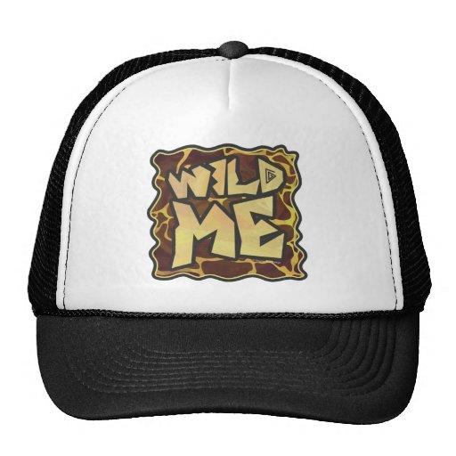 Giraffe Brown and Yellow Print Mesh Hats