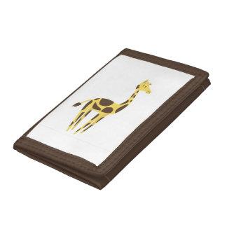 Giraffe Brown TriFold Nylon Wallet