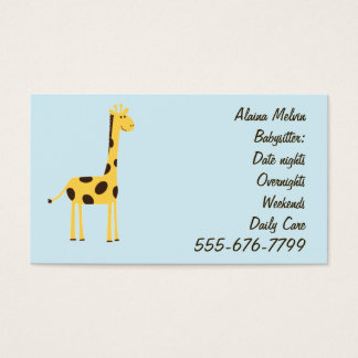 Giraffe Business Card
