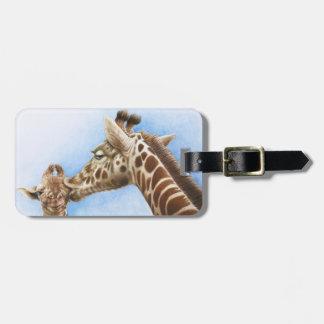 Giraffe & Calf Luggage Tag