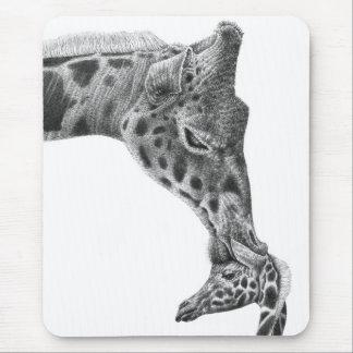 Giraffe & Calf Mousepad