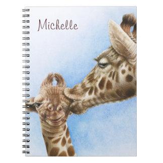 Giraffe & Calf Notebook
