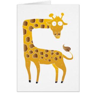 giraffe cartoon. card