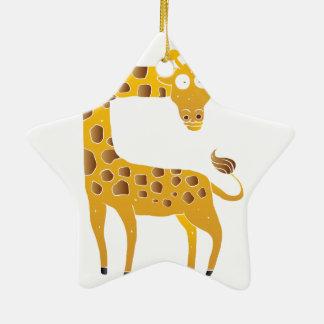 giraffe cartoon. ceramic star decoration