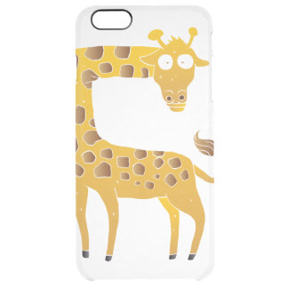 giraffe cartoon. clear iPhone 6 plus case