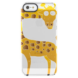 giraffe cartoon. clear iPhone SE/5/5s case