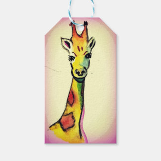 Giraffe Cartoon Gift Tags
