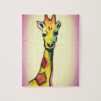 Giraffe Cartoon Jigsaw Puzzle