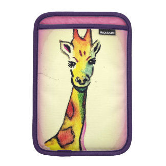 Giraffe Cartoon - Kimberly Turnbull Art iPad Mini Sleeve