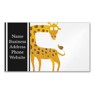 giraffe cartoon. magnetic business cards