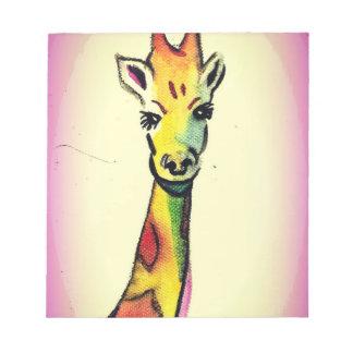 Giraffe Cartoon Notepad