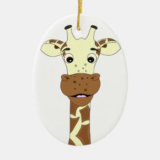 Giraffe cartoon ornament