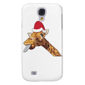 Giraffe christmas santa samsung galaxy s4 cover